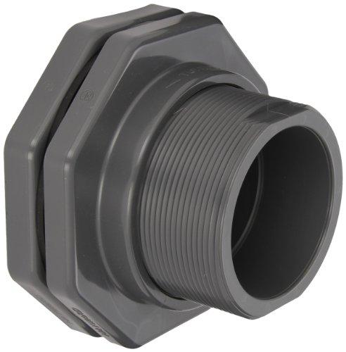 Hayward BFA1040SES Series BFA Standard Flange Bulkhead Fitting, Socket x Socket End, PVC with EPDM Seals, 4