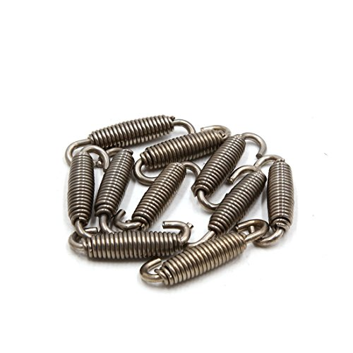 uxcell 10pcs Silver Tone Motorcycle Exhaust Pipe Muffler Springs Swivel Hooks