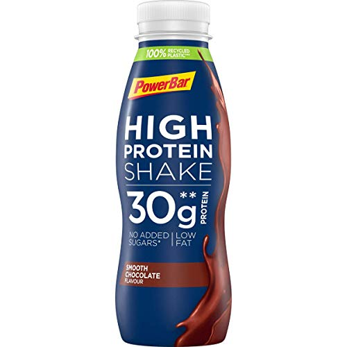 PowerBar High Protein Shake Smooth Chocolate, 6 x 330 ml, High Protein Low Fat Protein Drink, 1.980 kg