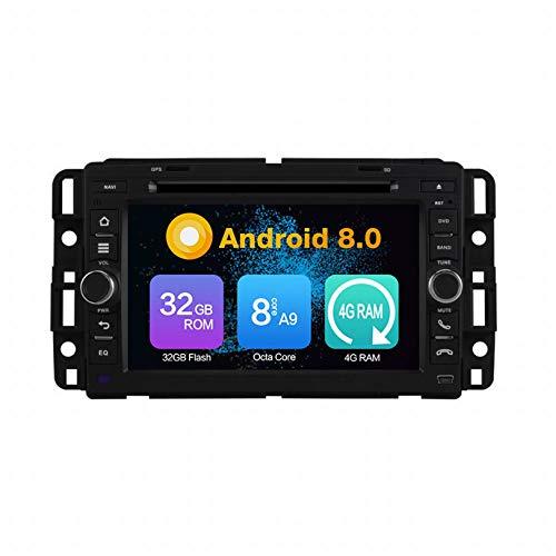 WHL.HH Androide 8 Auto Radio Auto Estéreo GPS Navegación Cabeza Unidad por GMC Yukon 2007-2012 IPS Tocar Pantalla SWC Bluetooth DVD Multimedia Jugador Video Receptor
