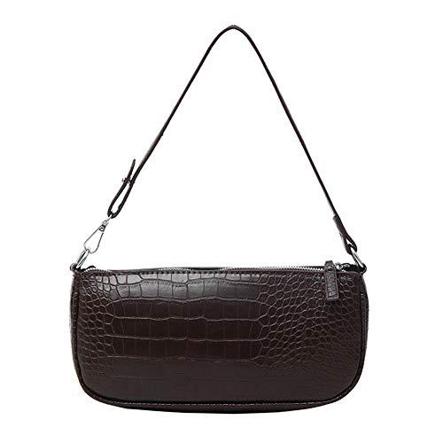 Yoofa Beauty baguette handtas, retro krokodillenreliëf baguette bag vintage, 2019 handtassen design voor dames, vrouwen kleine schoudertas