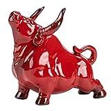 Homoyoyo Feng Shui Buey Estatua del Zodíaco Chino Año de Buey Vaca Estatua Escultura de Toro Callejero Decoración de Torta Figura de Cerámica Zodíaco Animal Mascota Kung Fu Té Mascota para