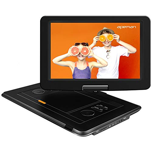 APEMAN 2020 Upgrade 17.9   Portable DVD Player with 15.5   Large Swivel Screen, 6 Hour Rechargeable Battery Support SD Card USB TV External Speaker for Kids Parent, Car Travel Home