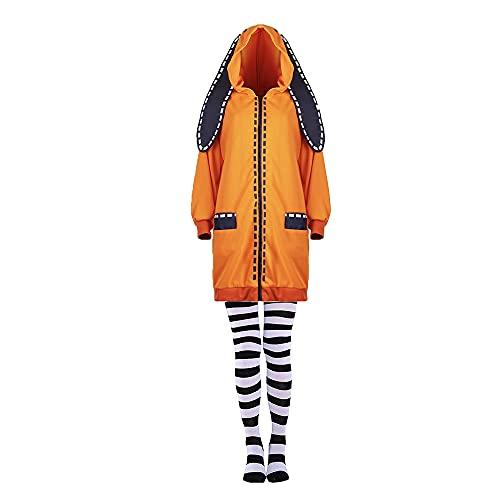 2PCS Anime KAKEGURUI Yomoduki Runa Halloween Karneval Hochwertige Cosplay Kostüm Reißverschluss Sweatshirt Pullover Anzüge