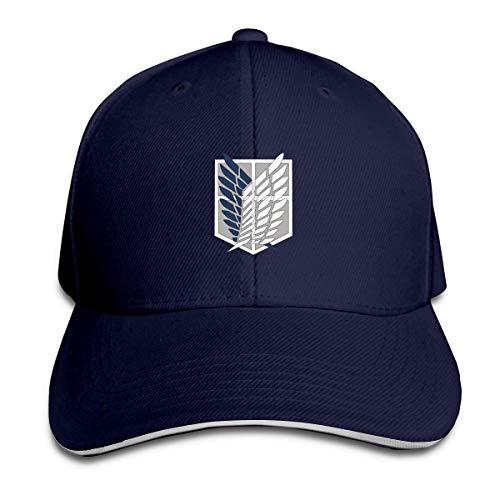 eeer Attack On Titan Anime Adjustable Sandwich Hats Baseball Cap Sun Hat Hüte, Mützen & Caps