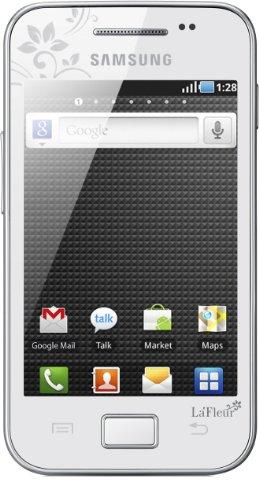 Samsung Galaxy Ace S5830i La Fleur Smartphone (8,9 cm (3,5 Zoll) Display, Touchscreen, Android 2.2, 5 Megapixel Kamera) pure-white - La Fleur