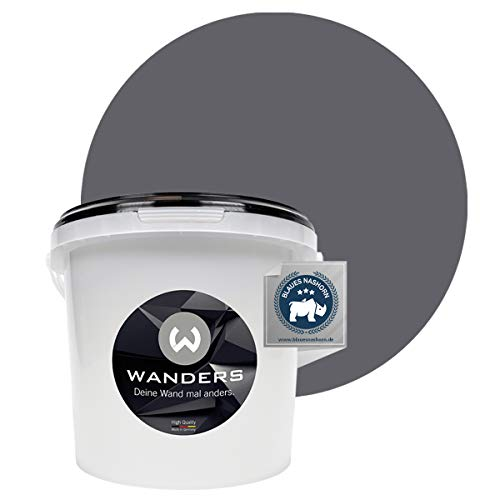 Wanders24® Tafelfarbe (3Liter, Graphitgrau) Blackboard Paint - Tafellack - abwischbare Wandfarbe - in 20 Farbtönen erhältlich - Made in Germany