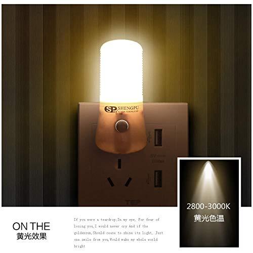 Schlafverplicht energiebesparende LED-nachtlamp-plug-in voor creatieve bescherming van de ogen, nachtlampje, stopcontact, bewegingsmelder, stil licht