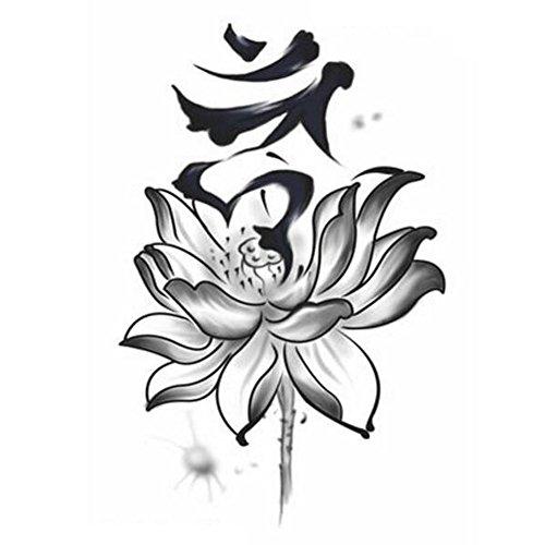 Sexy Tattoo Waterproof Creative/temporaire Autocollants Encre Lotus