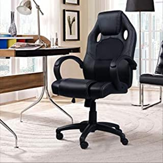 Windaze Gaming Recliner Chair, Breathable Swivel Adjustable High Back Racing Style Leather Desk Computer Chair for Office Work Black