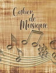 Cahier De Musique: Carnet de partitions, 13 portées par page pour la composition musicale, 108 pages, Grand format A4 : 21x 29,7 cm, Couverture Vintage