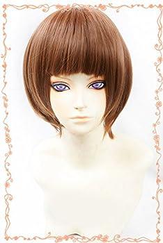 HH Building Kill La Kill Mako Mankanshoku Anime Cosplay Wig Short Short Bob Wig  Brown