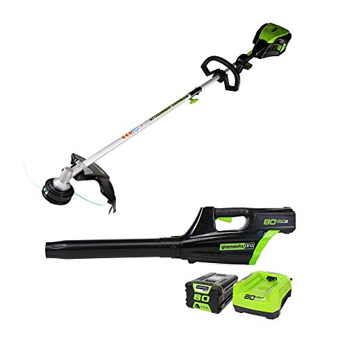 "Cheap Greenworks Pro 80V Cordless Brushless 16"" String Trimmer + Axial Blower Combo Kit, Battery a..."