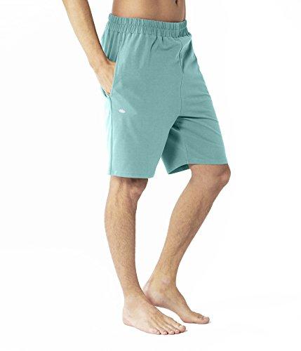 Lotuscrafts | Pantalón Corto de Yoga para Hombre, de algodón biológico, ecológico y sostenible
