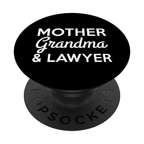 Lawyer Grandma Funny Gift - Mother Grandma Lawyer PopSockets PopGrip: Impugnatura per Telefoni Cellulari e Tablet Intercambiabile