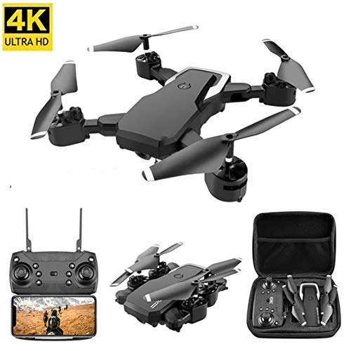 WLKJ Innen-Drohne/rc Drohne mit 4K HD-Pixel, die Schwerkraft Sensing, Einknopf-Rückkehr, für Drone Training,Schwarz