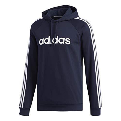 Adidas M 3S Lin FL P/O Sudadera con capucha Hombre Azul, S