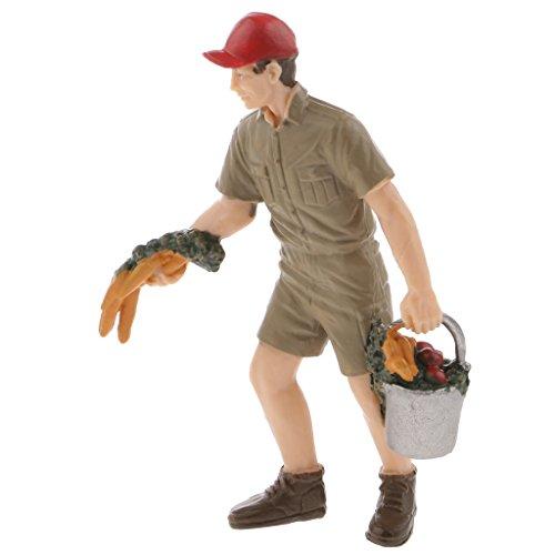 Figurine Personnage Fermière Modèle Figure Action Modélisme de la Ferme - Éleveur de Ranch, 8.5cm