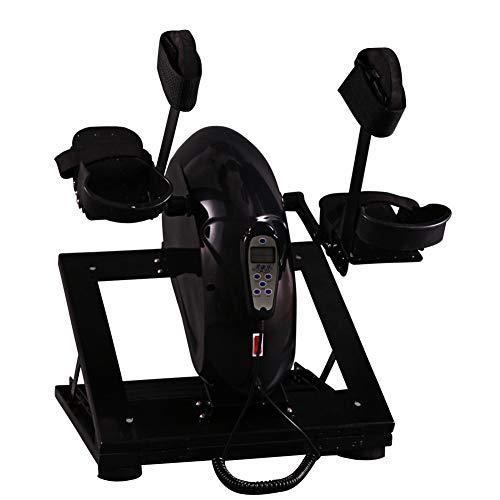 DYHQQ Elektro-Pedal-Trainingsgerät für Senioren Tragbares Fitness-Fahrrad für Arm- / Beinübungen Mini-Fahrradtrainer Stationäre Übung Beinhändler