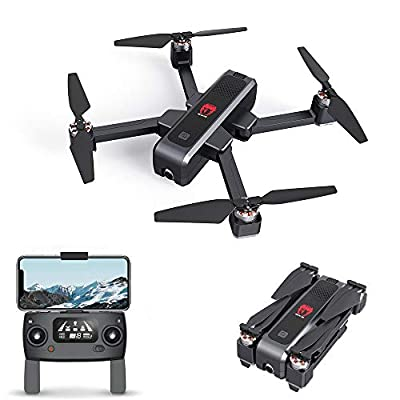 EACHINE EX3 Drone with Camera for Adults Drone GPS Brushless 5G WiFi FPV with 2K Camera Optical Flow OLED Switchable Remote Brushless Foldable RC Drone Quadcopter RTF