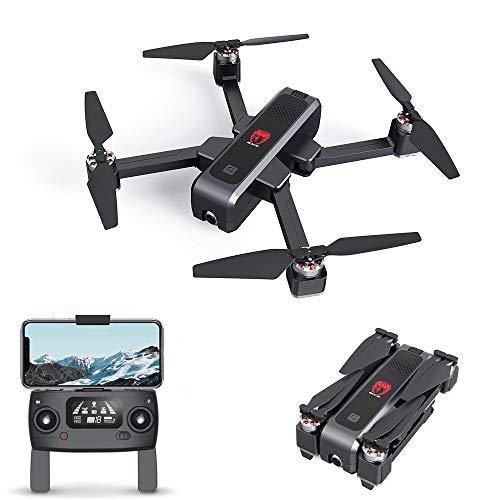 EACHINE EX3 Drohne mit Kamera HD 2K GPS 5G WiFi FPV Follow me Brushless Optischer Fluss 20 Min Flugzeit Fixpunkt-Surround-Flug OLED Flugbahn Faltbare RC Quadcopter RTF