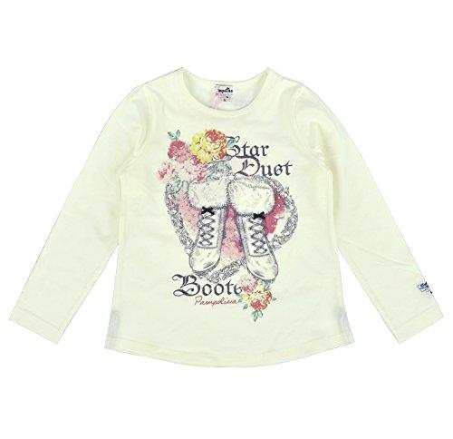 Pampolina Magic Moment Camiseta Manga Larga Niñas 6494233 - algodón, beige, 5% elastán 95% algodón, niñas, 128