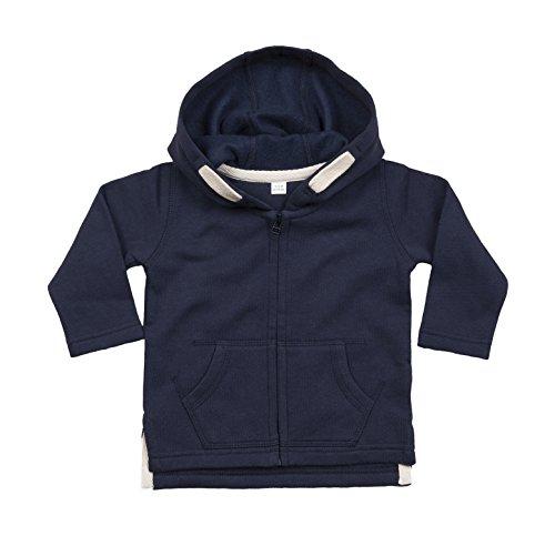 The Uniform Company Sudadera para bebé: Abierta, Cierre de Cremallera, con Capucha y Dos Bolsillos. (6/12 Meses, Azul Marino)