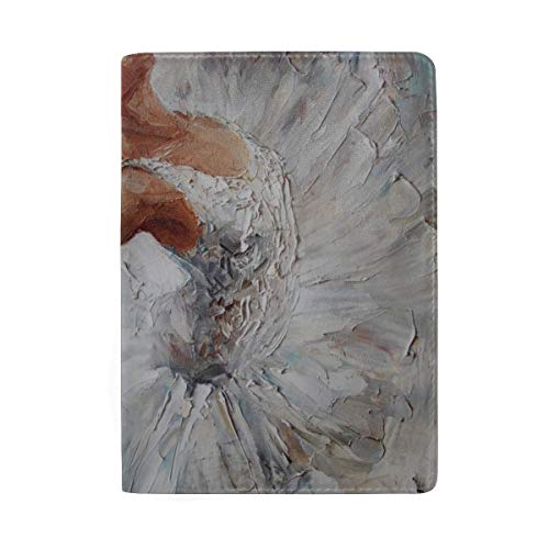 Beautiful White Swans Dancing Blocking Print Passport Holder Cover Case Travel Luggage Passport Wallet Card Holder Made With Leather For Men Women Kids Family