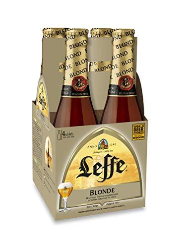 Leffe Cerveza Blonde, 4 x 33cl