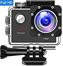 Victure Actioncam Full HD 1080P 12MP 170° Wide Angle Waterproof Action Cameras Underwater Sports Action Camera with 1050 mAh Battery 20 + Free Accessories Kits