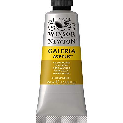Winsor & Newton Galeria Acrylic Paint, 60-ml Tube, Yellow Ochre, 2 Fl Oz