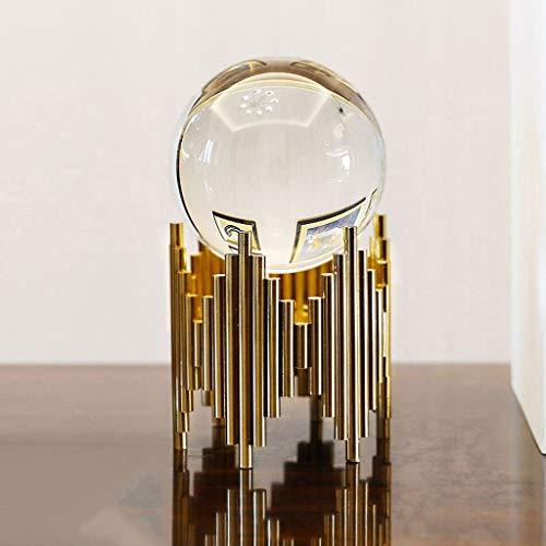 Adivinación con Bola de Cristal Decoración de la Bola de Cristal Transparente, de Fondo Lujo luz Inicio Bola de Cristal Decoración Bola de Cristal con el Metal Base de Soporte Bola de Cristal
