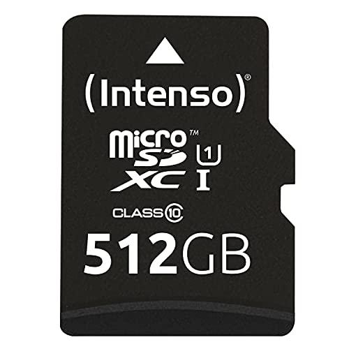 Intenso Micro SDXC 512GB Class 10 Speicherkarte inklusiv SD-Adapter (UHS-I)
