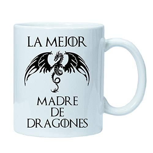 Imprimirlo Taza Mamá Regalo para el Día la Madre - La Mejor Madre de Dragones