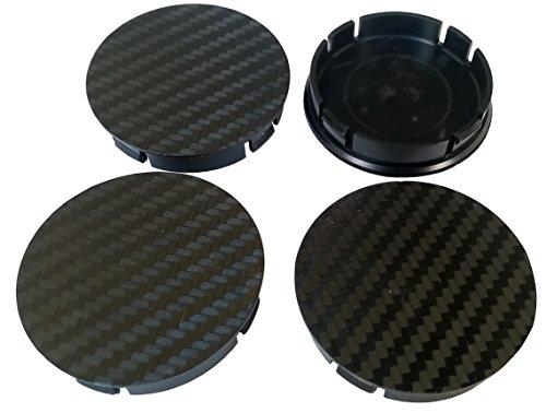 Born 1 Carbon 4 STK. x60mm Schwarze Nabenkappen Radkappen Felgenkappen Raddeckel - PASSEND für Felgen mit 55,5-56mm Innendurchmesser des Lochs