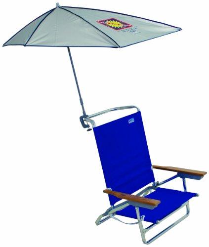 Rio Beach Total Sun Block My Shade Clamp-On Umbrella for Camp, Beach, or Lounge Chairs