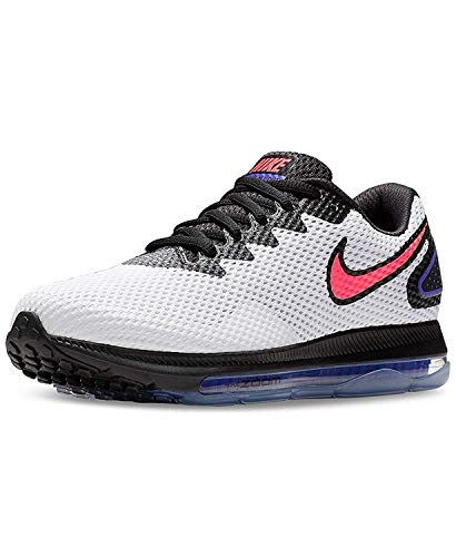 Nike Women's Zoom All Out Low Running Shoes, White/Solar Red-Black, Size 8.0