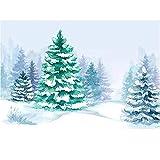 Fondo de fotografía Navidad nevado Invierno Bosque Paisaje recién Nacido bebé niño fotomatón Fondo Estudio Fotos llamadas-220x150cm