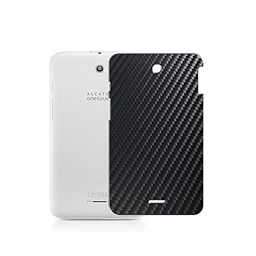 VacFun 2 Piezas Protector de pantalla Posterior, compatible con Alcatel P330X 7', Película de Trasera de Fibra de carbono negra Skin Piel