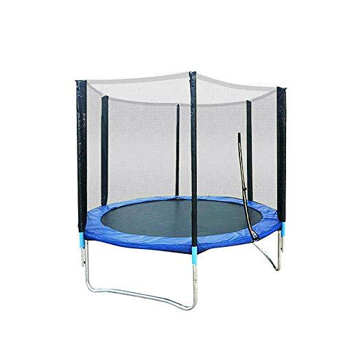 Cama elástica de jardín de 183 cm con red de seguridad, juego completo de red, escalera de hasta 300 kg