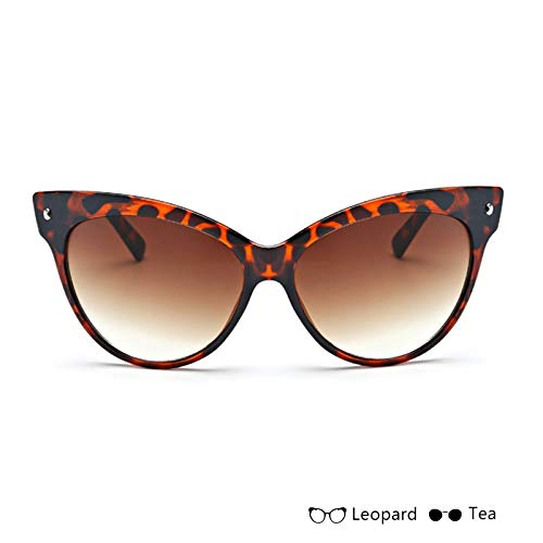 Aprigy - Gafas de Sol de Moda Cat Eye para los vidrios de Las señoras de Las Mujeres del Ojo del Leopardo Gafas de Sol Marca con los vidrios de Sun Mujer Gafas [té de Leopardo]