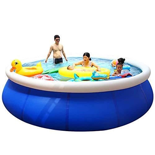 Piscina Desmontable Autoportante Fast Set,Family Pool Big Lagoon Piscina Inflable para Niños Piscina Infantil para Jardín Al Aire Libre Material De PVC