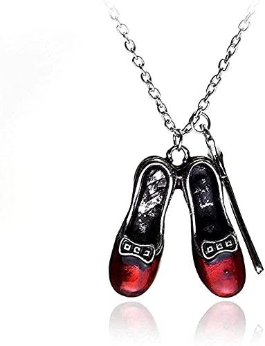 Collana con ciondolo a catena Collana Donna Uomo Collana Collana magica errante Collana con ciondolo scarpe rosse per regalo per donne e ragazze
