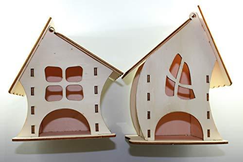 Juego de 2 cajas organizadoras decorativas para bolsitas de té. Caja dispensadora para infusiones elaborada en madera contrachapado natural 3mm. Diseño único. (Natural)