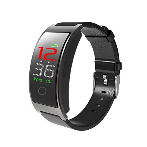 CK11C Blautooth 4.0 Smart Watch Armband Blutdruckmessgerät IP67 Wasserdicht Full Touch Farbe LCD Smart Armband Schrittzähler Armband (Schwarz)
