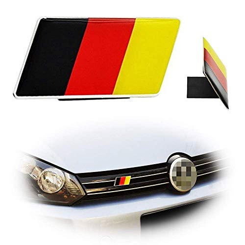 iJDMTOY Set of Germany Flag Emblem Grille Badge, Compatible With European Car Front Grill/Bumper Decoration