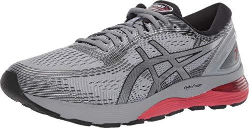 ASICS Men's Gel-Nimbus 21 Running Shoes, 12, Sheet Rock/Black