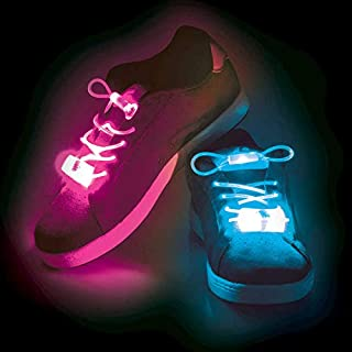 LED Light Up Shoelaces - Colours May Vary - 1 Pair Supplied