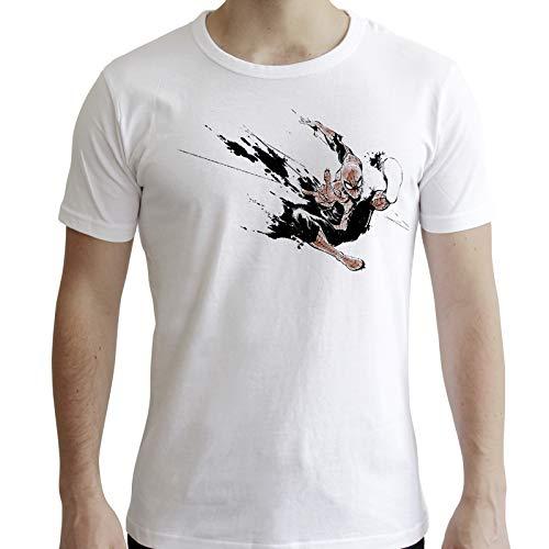 ABYstyle - Marvel - Spider Man - T-Shirt - Spider Man Inchiostro - Bianco - Uomo (XL)