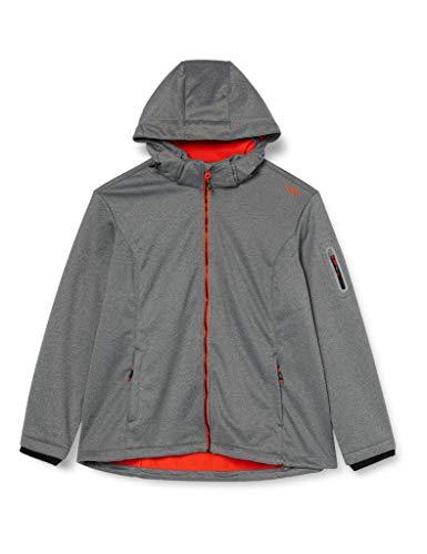 CMP Damen Windproof and Waterproof Softshell Melange Jacket WP 7.000 Jacke, Black, D38